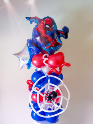 Super Hero Column- Veroballoon.com Decorations Miami