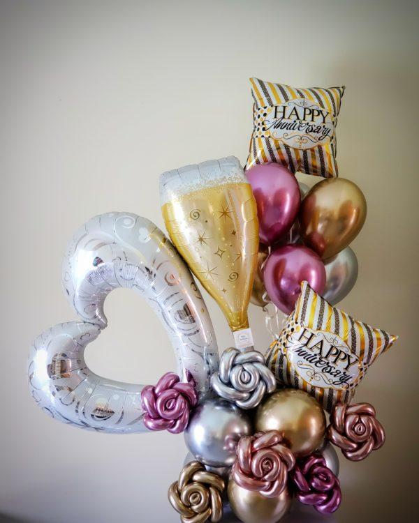 Cheers Aniversary Bouquet-Veroballoon.com Decorations Miami