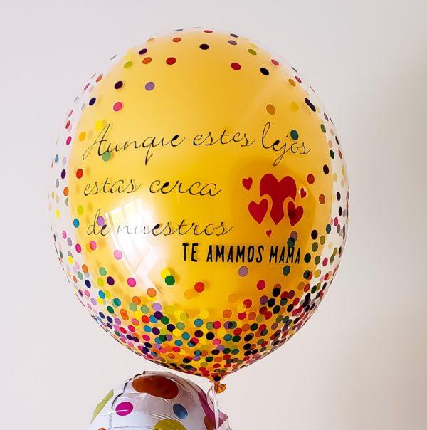 Custom Confetti Bubbles - Veroballoon.com Decorations Miami