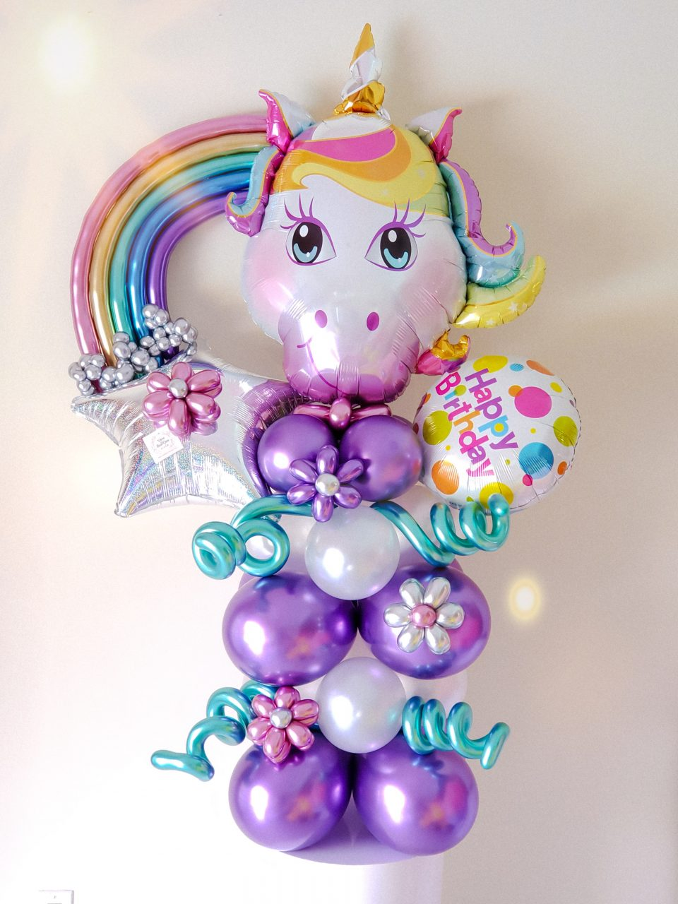 Rainbow Unicorn -Veroballoon.com Decorations Miami