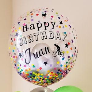 Custom Confetti Bubbles - Veroballoon.com Decorations Miami